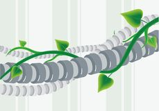 Kabel en de klimmer Stock Foto