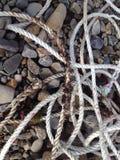 Kabel en rotsen stock fotografie