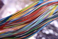 Kabel för elektrisk tråd för virvelfärg arkivfoton
