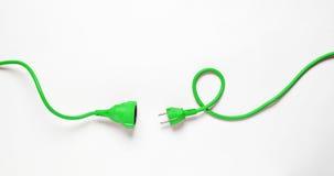 Kabel för grön makt arkivbilder