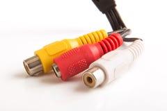 Kabel för säkerhetskamera royaltyfri foto