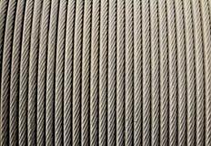 Kabel för ståltrådrep Arkivbild