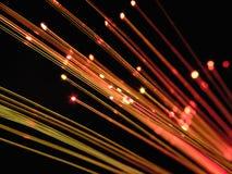 Kabel för TRÅD för FIBEROPTIK Fotografering för Bildbyråer