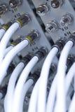 kabel förbindelsenätverksströmbrytare till royaltyfri bild