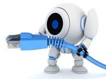 kabel förtjänar roboten stock illustrationer