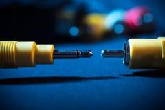 Kabel für Audio und Video Stockbild