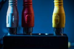Kabel für Audio und Video Lizenzfreies Stockfoto