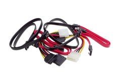 Kabel für Computertechnologie auf einem hellen Hintergrund Lizenzfreies Stockbild