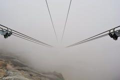 Kabel Fanicular-Eisenbahn Stockfotografie