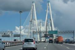 Kabel-gebleven brug Stock Foto's