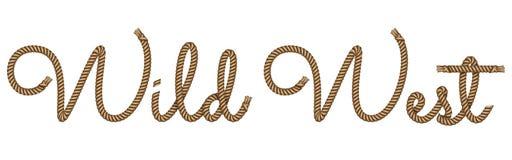Kabel hand het getrokken van letters voorzien vector illustratie