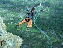 Kabel het springen Opgewekt meisje Royalty-vrije Stock Fotografie