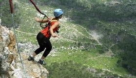 Kabel het springen Opgewekt meisje Stock Foto
