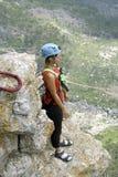 Kabel het springen Opgewekt meisje Royalty-vrije Stock Foto