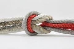 Kabel, knoop royalty-vrije stock foto's