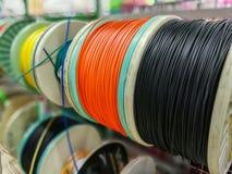 Kabel, materiaal, machtslijn, voeding Stock Afbeeldingen