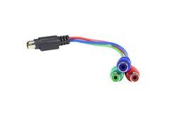Kabel mit Kabelverbindungsstücken Lizenzfreie Stockbilder
