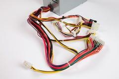 Kabel mit Steckern Stockfotografie