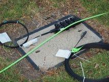 Kabel, multiport i jama dla Szerokopasmowego związku, Zdjęcie Royalty Free