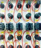 Kabel och färger Arkivbilder