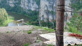 Kabel och rep stock video