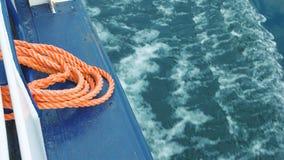 Kabel op boot stock video