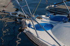 Kabel op boot Royalty-vrije Stock Foto's