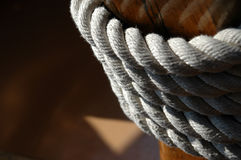 Kabel op boot Royalty-vrije Stock Afbeeldingen