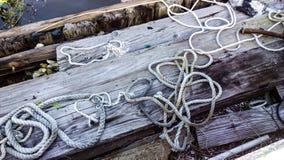 Kabel op hout Royalty-vrije Stock Fotografie