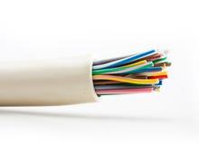 Kabel på vit bakgrund royaltyfri foto