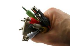 kabel ręka Obrazy Stock