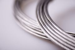 kabel srebra Obraz Stock