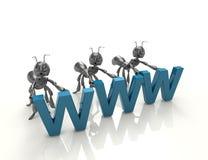 kabel tła związku internetu głęboka wtyczka blue Ilustracja Wektor