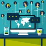 kabel tła związku internetu głęboka wtyczka blue 3d sieć obrazek odpłacający się ogólnospołecznym Obraz Stock