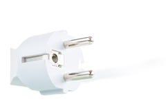 Kabel und Stecker lokalisiert von der weißen Farbe Lizenzfreies Stockbild