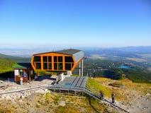 Kabel-väg Solisko, höga Tatras Royaltyfria Foton