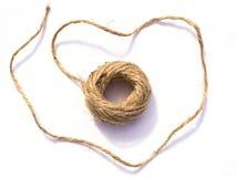 Kabel van de streng de dunne hennep royalty-vrije stock afbeelding