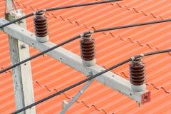 Kabel van elektriciteit Stock Fotografie