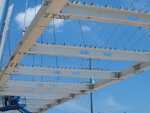 Kabel Zostający Katy śladu Zwyczajny most Zdjęcia Stock