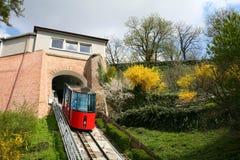 Kabelbaan aan de heuvel van het Kasteel in Graz Royalty-vrije Stock Foto