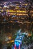 Kabelbaan aan Petrin-Heuvel stock fotografie