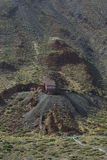 Kabelbaan aan vulkaan van Teide Stock Afbeeldingen