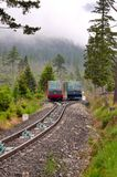 Kabelbaan bij Hoge Tatras-bergen in Slowakije stock foto