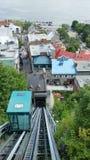 kabelbaan in de Stad van Quebec Royalty-vrije Stock Afbeeldingen