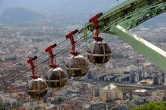 Kabelbaan in Grenoble stock fotografie