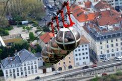 Kabelbaan in Grenoble royalty-vrije stock afbeelding