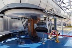 Kabelbaan lege cabine stock fotografie