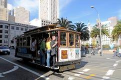 Kabelbaan in San Francisco Stock Foto's