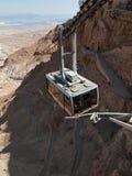 Kabelbaan in vesting Masada, Israël Stock Fotografie