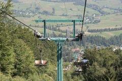 Kabelbahn zu Pylypets Lizenzfreie Stockbilder
